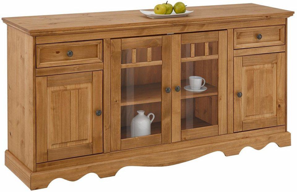 Home affaire Sideboard »Melissa«, Breite 169 cm in beize/wachs