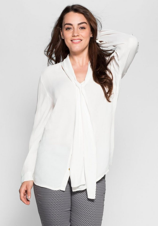 sheego Style Schluppenbluse in offwhite