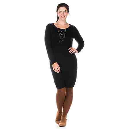 sheego Casual Legeres Strickkleid in zeitlosem Design