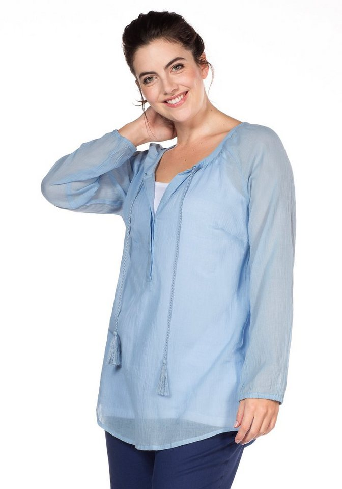sheego Casual Tunika in pastellblau