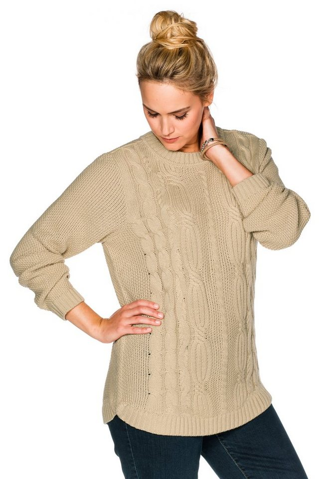 sheego Casual Pullover in camel