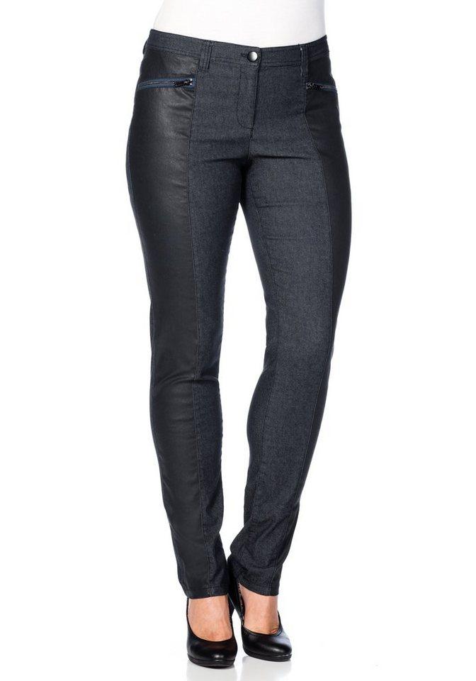 sheego Trend Hose »Die Schmale« in dunkelblau