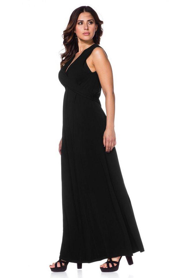 Sheego Anna Scholz Jerseykleid in schwarz