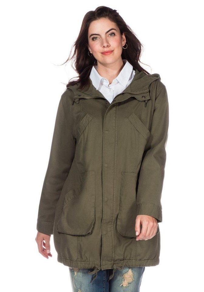 sheego Casual Parka in Oversized-Form in khaki