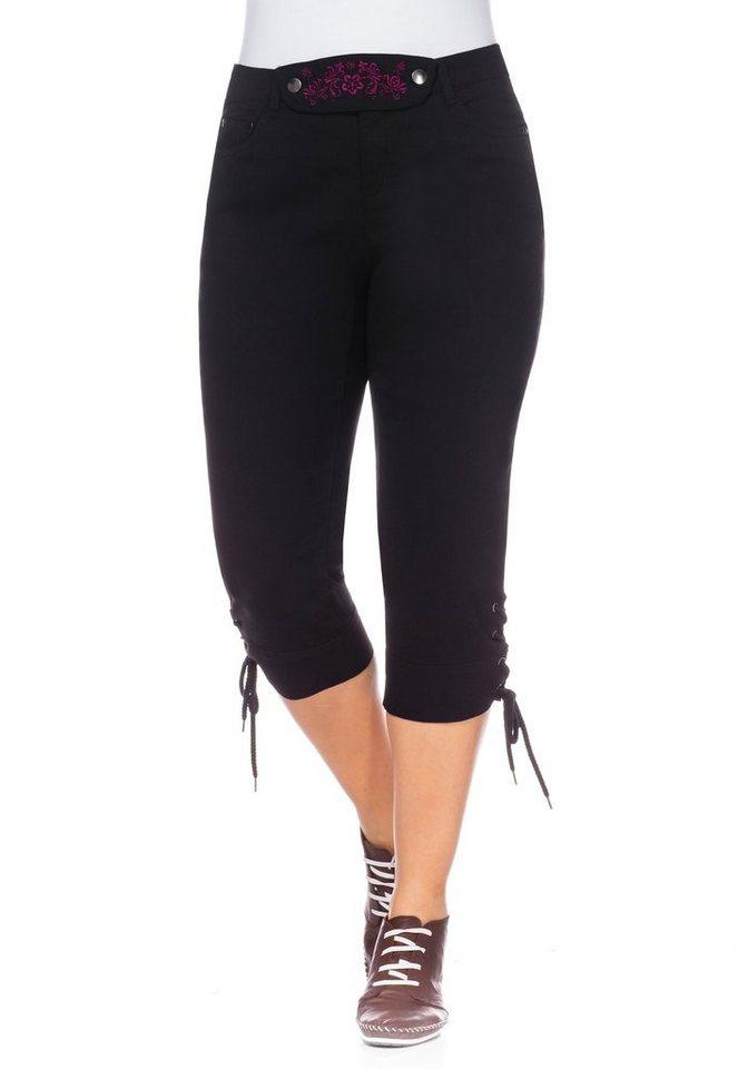 sheego Style Trachtenhose im modernen Look in schwarz