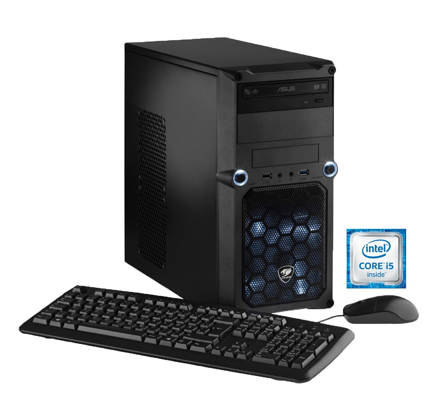 Hyrican PC Intel® i5-6600, 16GB, SSD + HDD, GeForce® GTX 1060 »CyberGamer PC 5260«