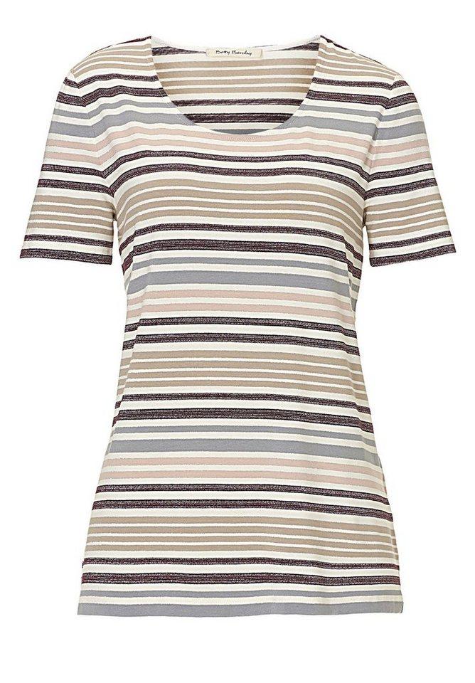 Betty Barclay Shirt in Weiß/Camel - Bunt