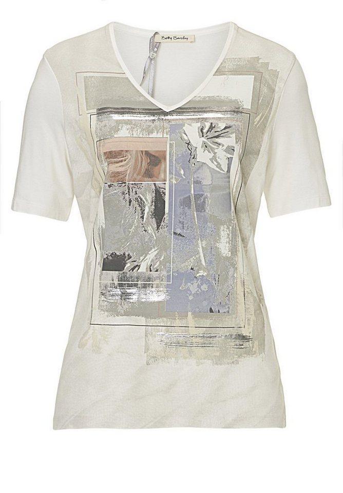 Betty Barclay Shirt in Weiß/Grau - Weiß