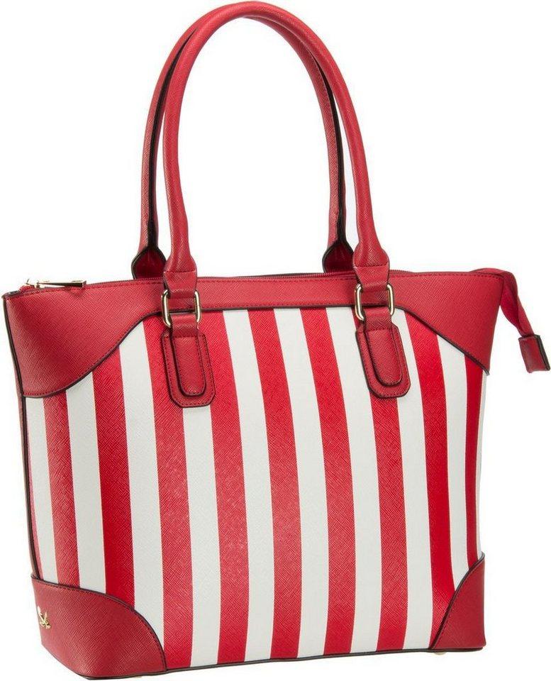 Sansibar Stripes 1018 Shopper Bag A4 in Red