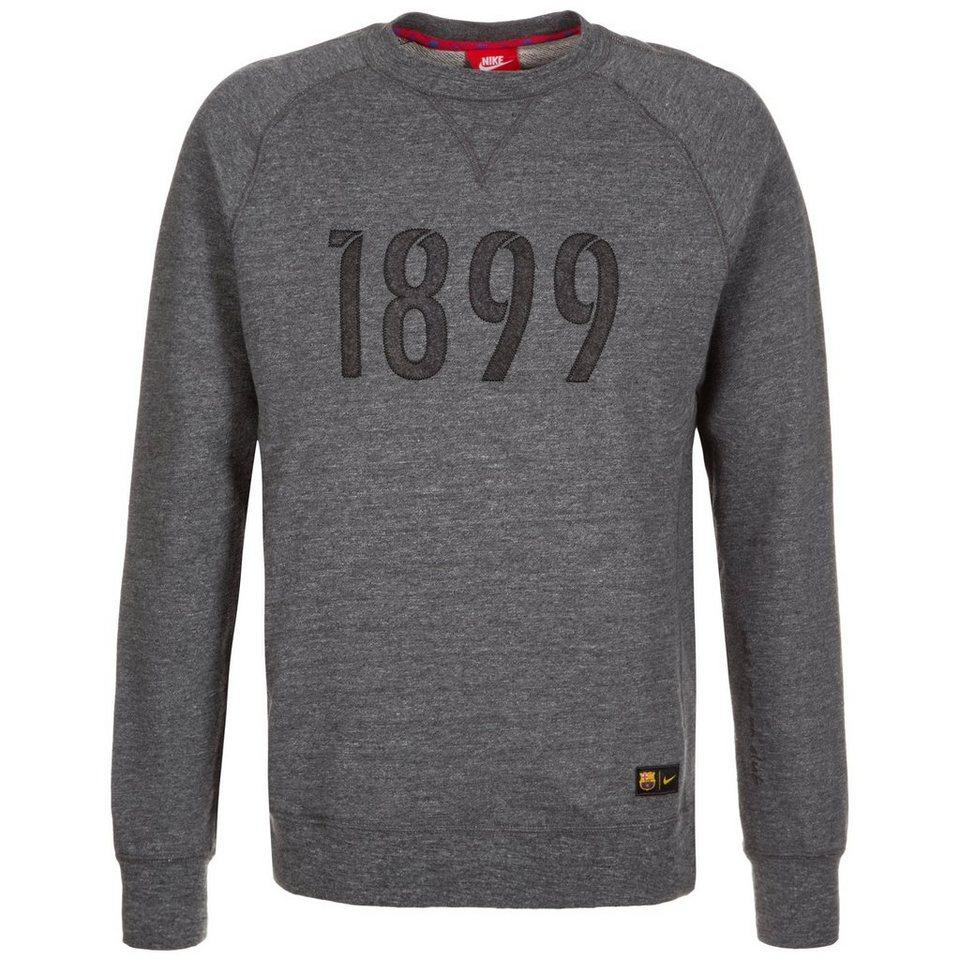 NIKE FC Barcelona Crew Authentic Sweatshirt Herren in anthrazit