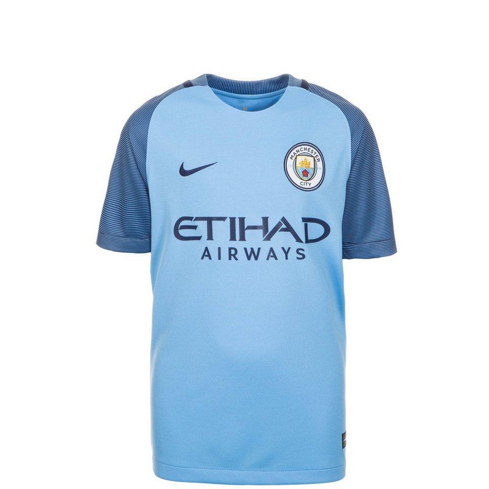 NIKE Manchester City Trikot Home Stadium 2016/2017 Kinder in blau / dunkelblau