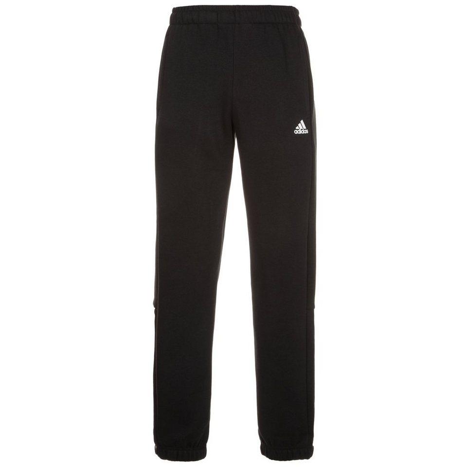 adidas Performance Essentials Mid Trainingshose Herren in schwarz / weiß