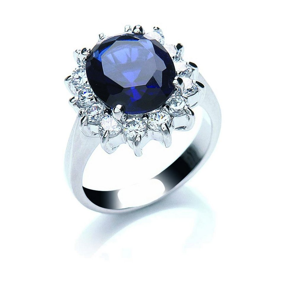 Buckley London Ring »rhodiniert mit Zirkonia« in weiß
