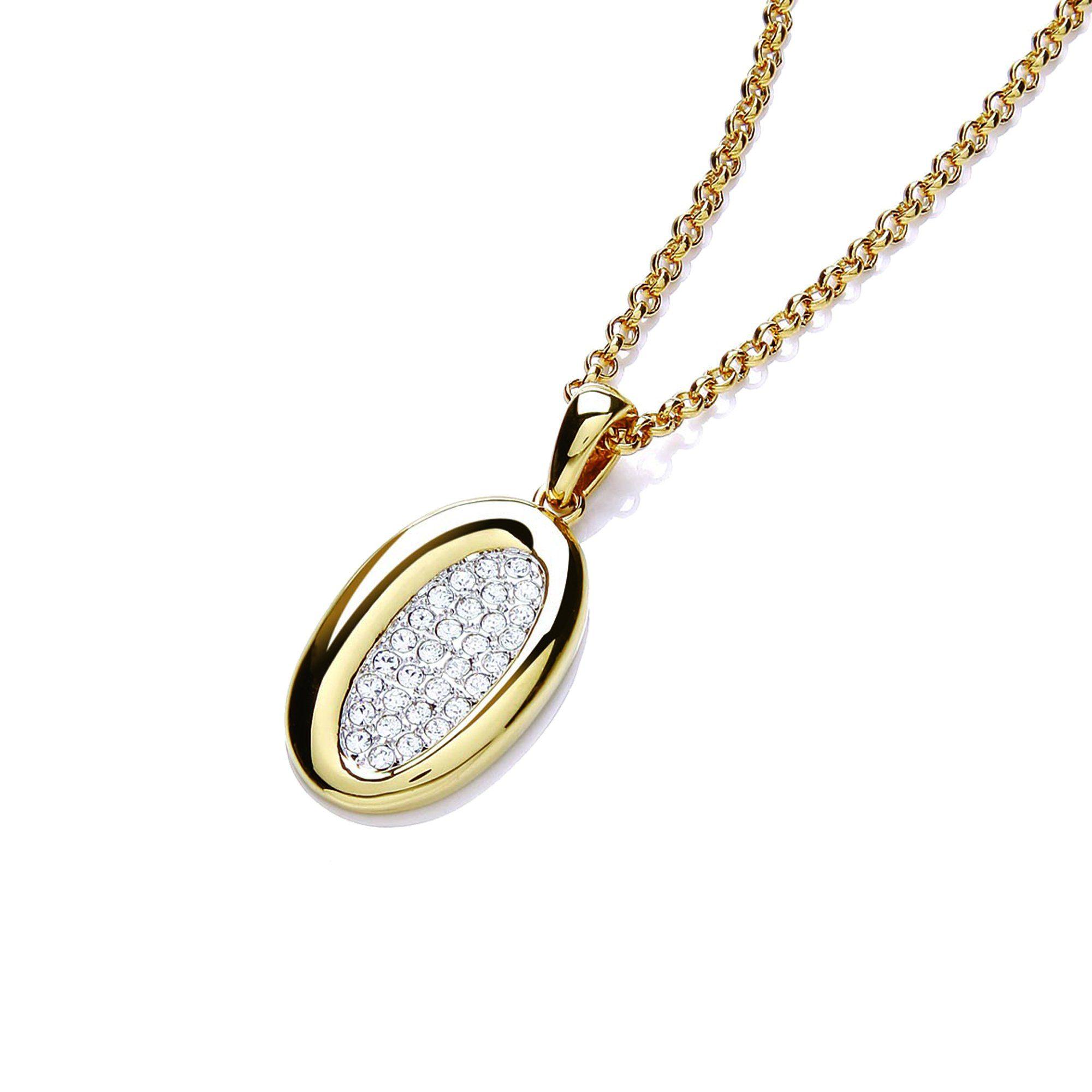 Buckley London Anhänger mit Kette »vergoldet und rhodiniert mit Kristallen«