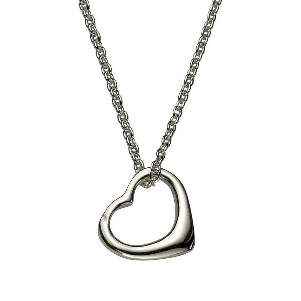 Zeeme Anhänger mit Kette »925/- Sterling Silber Herz« in weiß