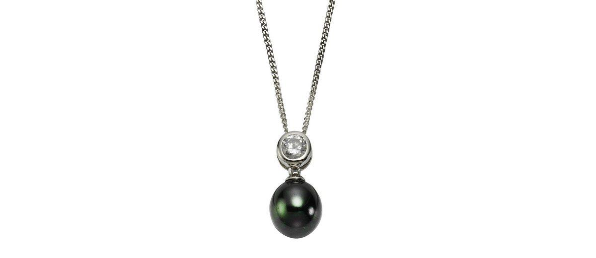 Zeeme Anhänger mit Kette »925/- Sterling Silber Perle schwarz«