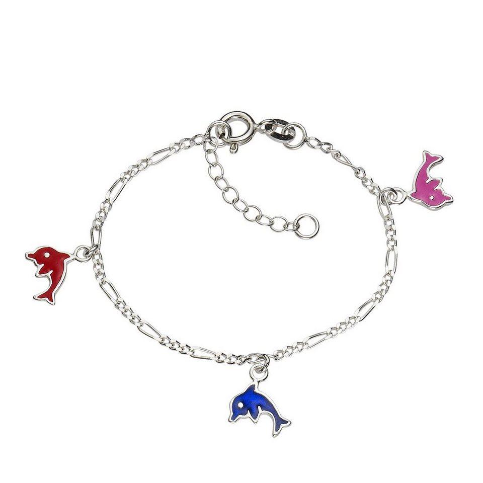Zeeme Armband »925/- Sterling Silber Delfin« in weiß