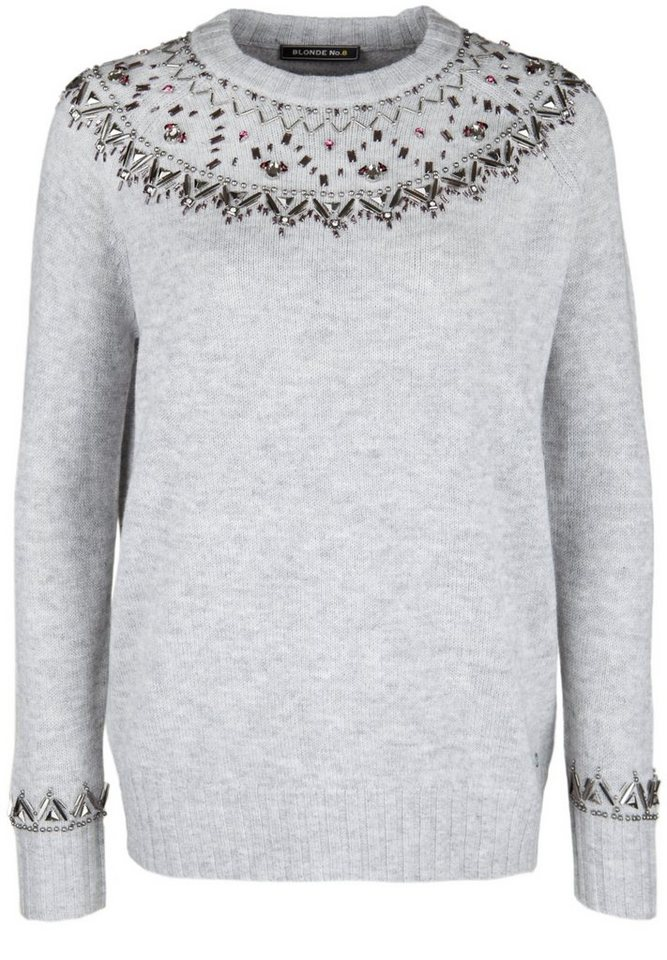 Blonde No.8 Strickpullover »MIT STRASS-BESATZ« in silver