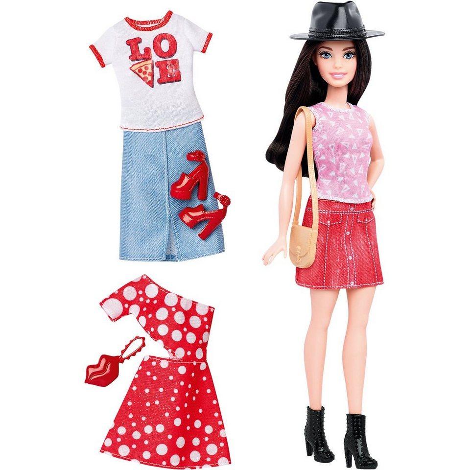 Mattel Barbie Fashionistas Style Puppe und Moden mit Pizza-Shirt