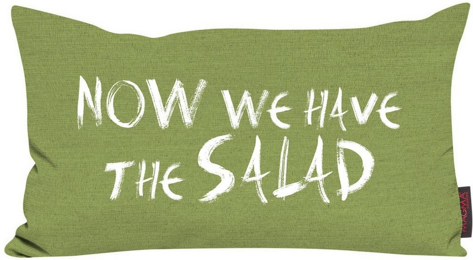 Dekokissen, Magma, »Now we have the salad«, meliert in kiwi