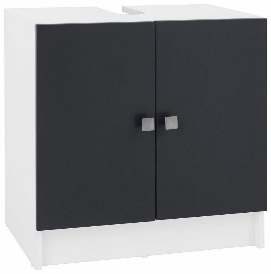 welltime Waschbeckenunterschrank »Ely« in weiß/grau