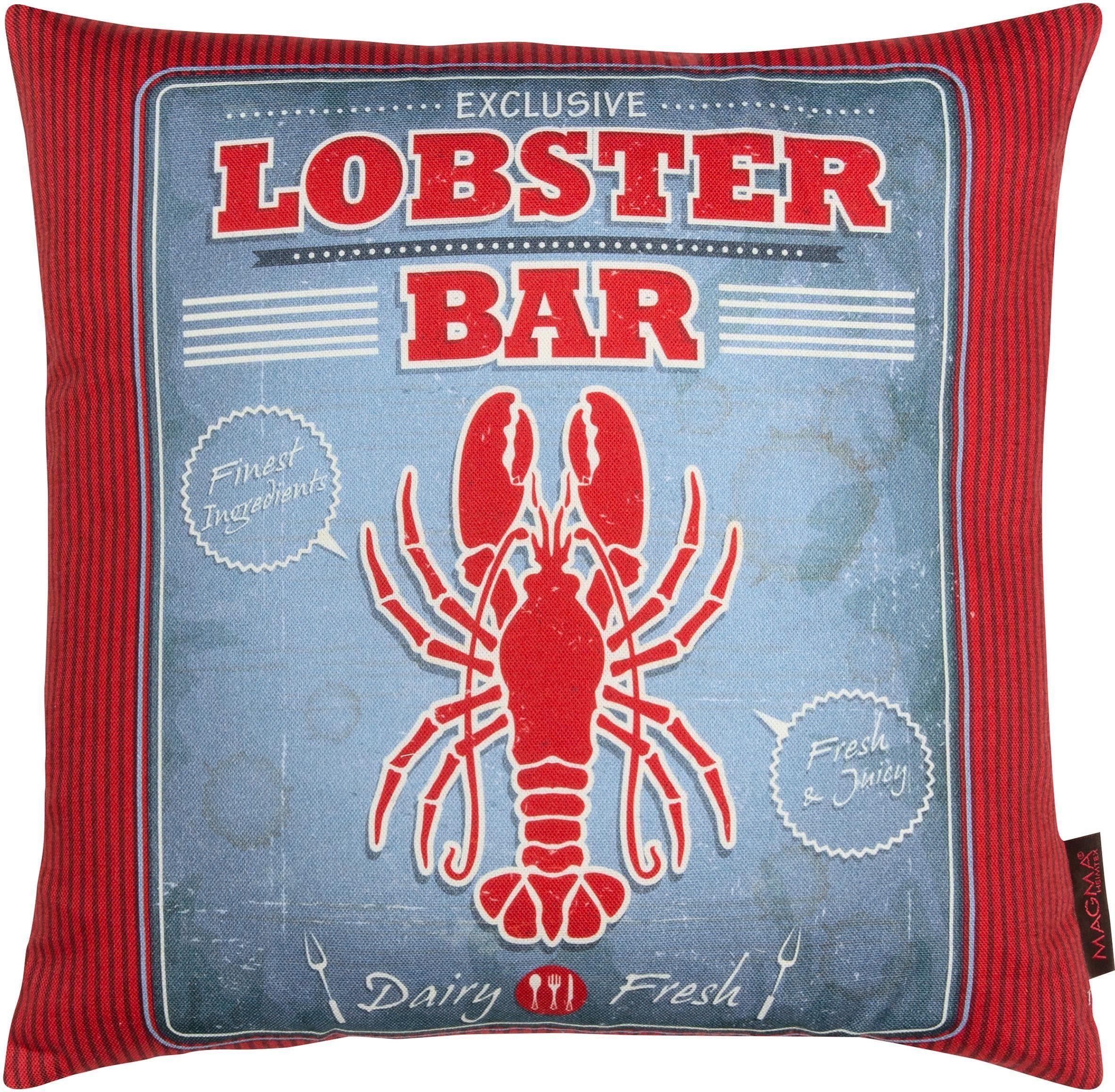 Dekokissen, Magma, »Lobster«, mit karierter Wendeseite