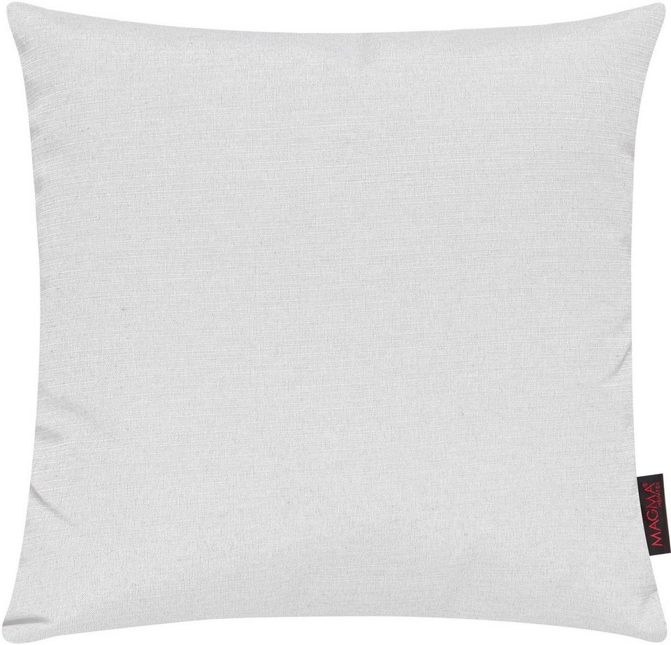 Dekokissen, Magma, »Fino«, in schlichtem Design (2er Pack) in weiß