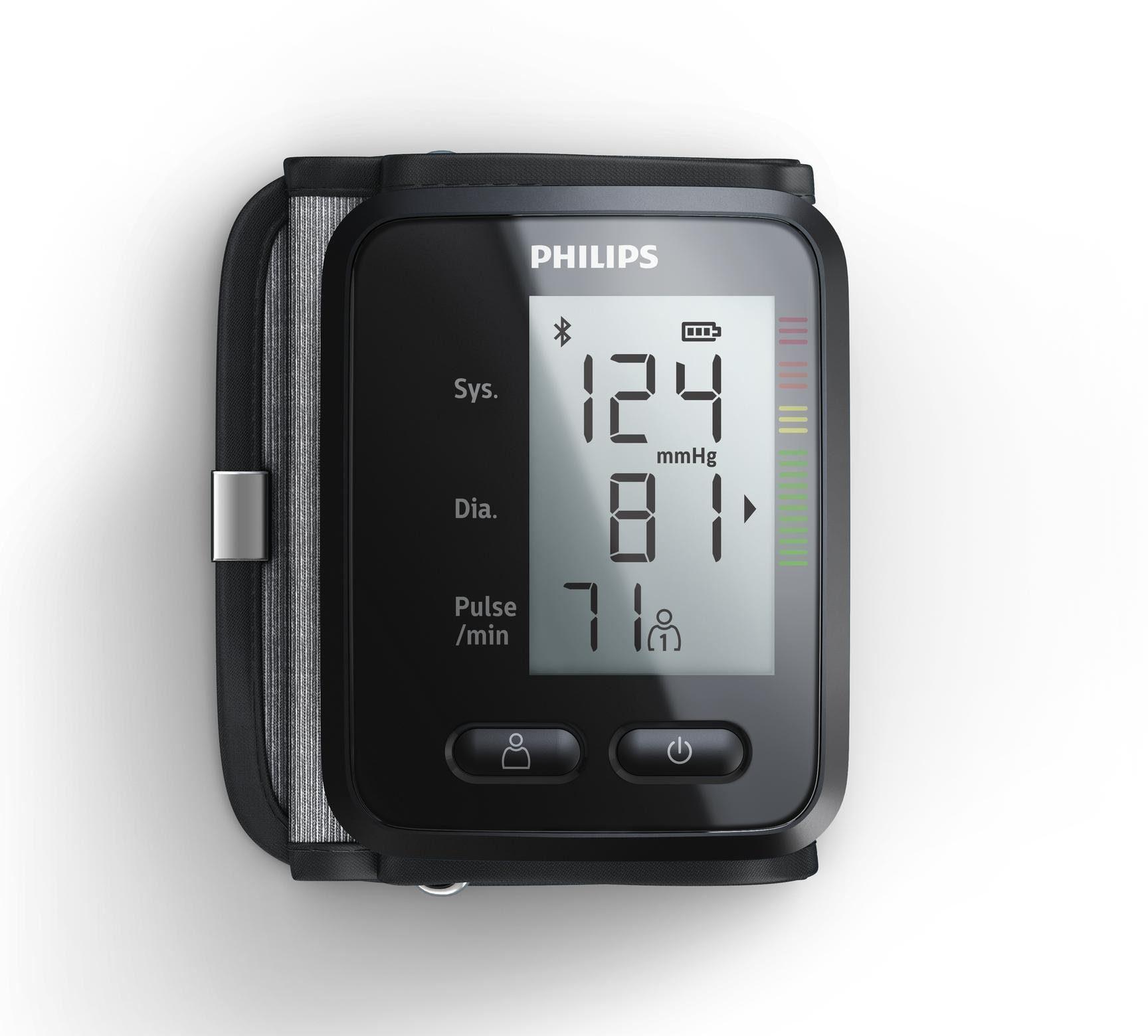 Philips Unterarm Blutdruckmessgerät DL8765/01, mit App-Anbindung