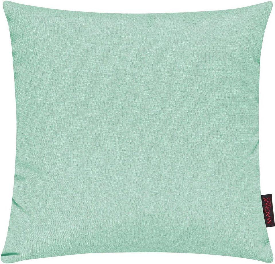 Dekokissen, Magma, »Fino«, in schlichtem Design (2er Pack) in pastellgrün