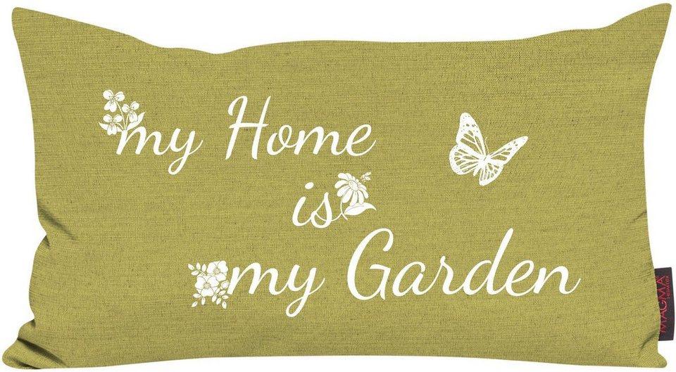 Dekokissen, Magma, »My Home«, mit Spruch in grün