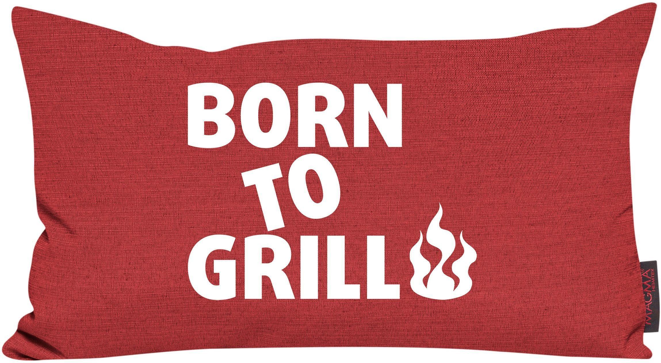 Dekokissen, Magma, »Born to grill«, mit Flammen-Motiv