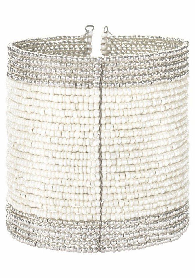 J. Jayz Armspirale in silberfarben-weiß