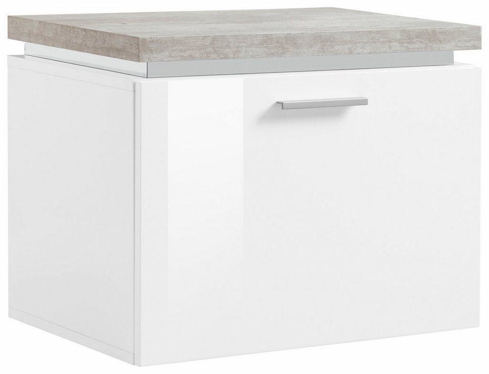 Schuhbank »Gazebo« in weiß-betonfarben/weiß