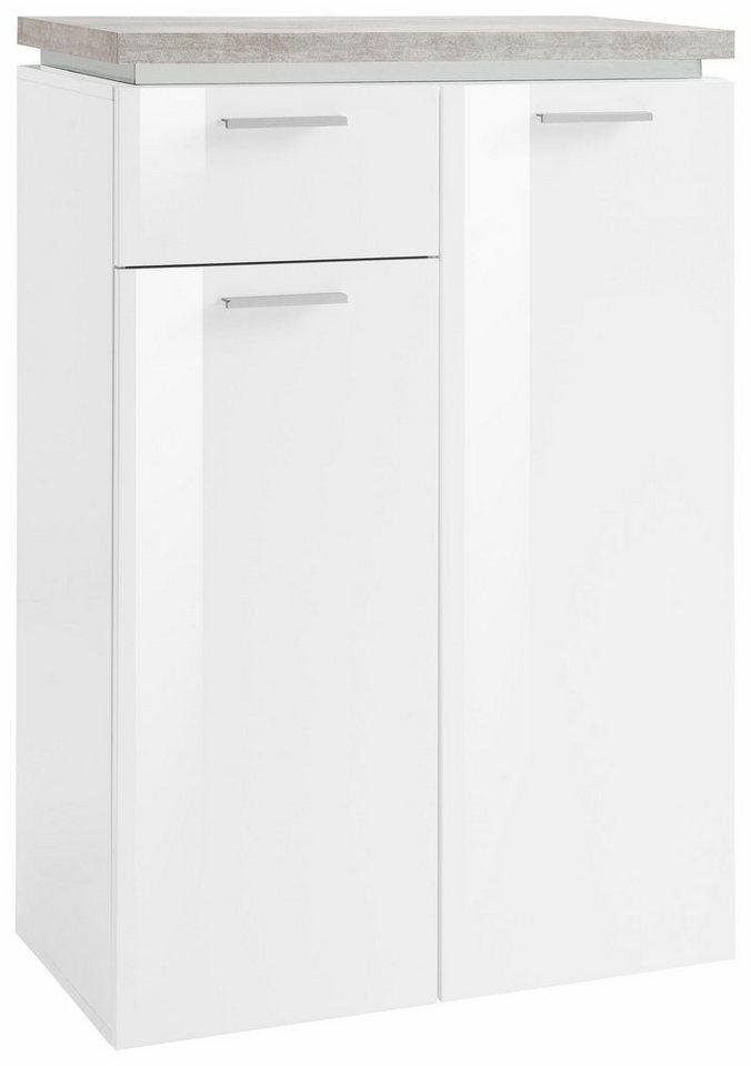Schuhkommode »Gazebo« in weiß-betonfarben/weiß