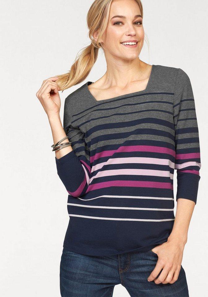 Cheer 3/4-Arm-Shirt mit 3/4-langen Ärmeln in grau-marine-pink-rosé-weiß