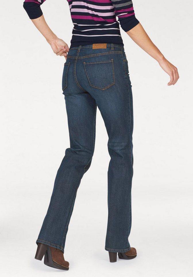 Cheer 5-Pocket-Jeans »Beate« mit angedeuteten Sitzfalten in darkblue