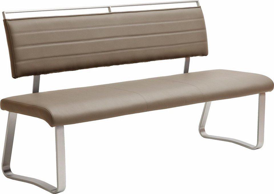 Sitzbank, Breite 155 oder 175 cm in cappuccino