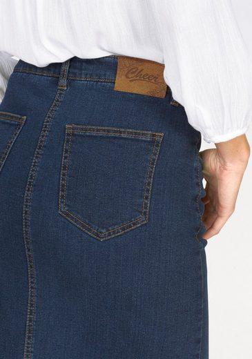 Cheer Jeansrock, mit seitlichem Reißverschluss