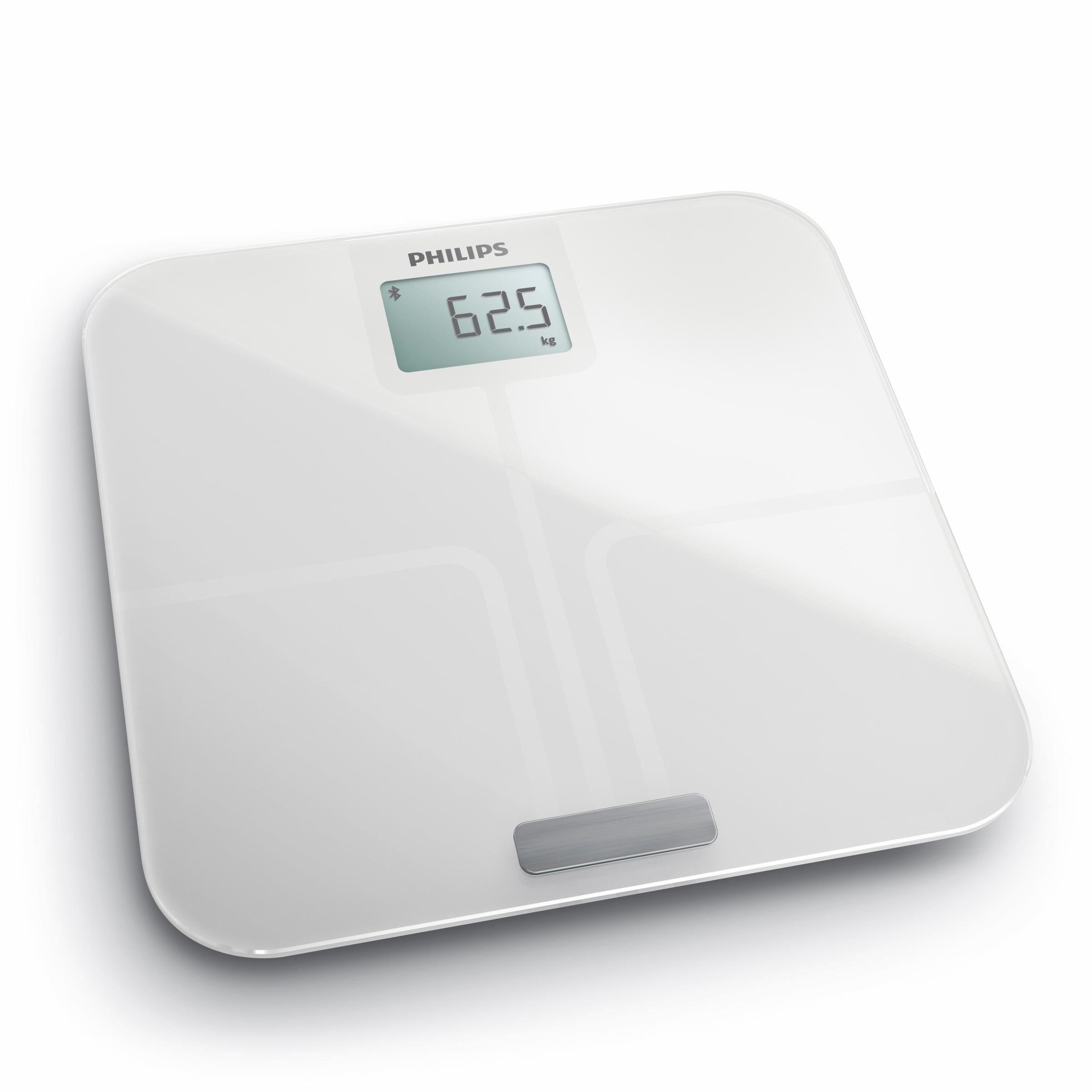 Philips Körperanalyse-Waage DL8781/01, mit App-Anbindung, weiß