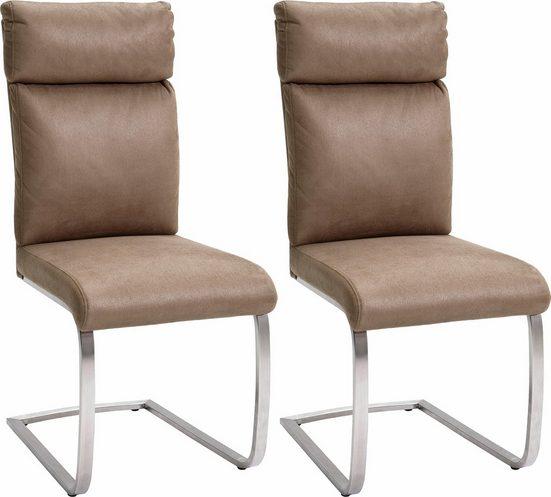 MCA furniture Freischwinger 2er-Set, Stuhl belastbar bis 130 Kg