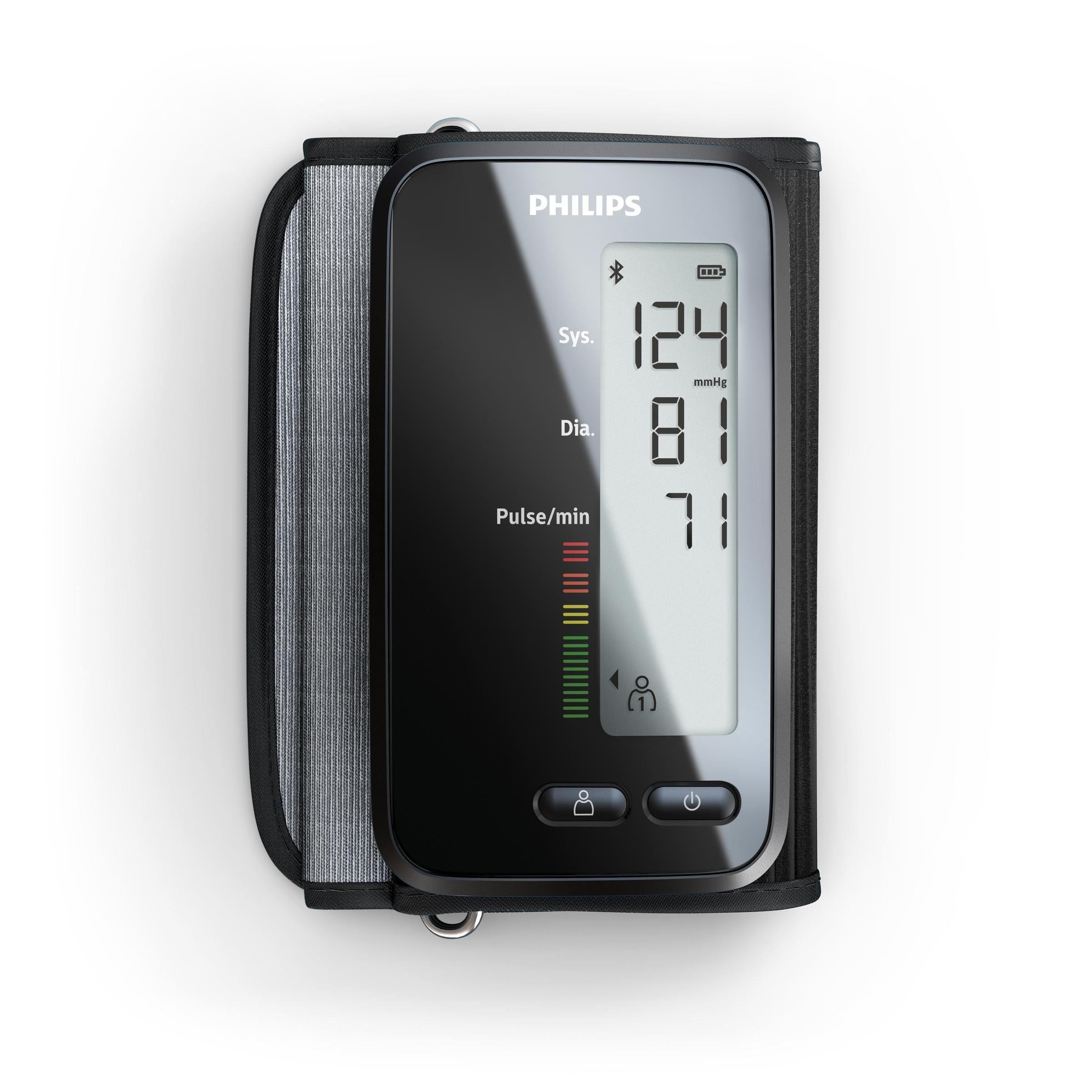 Philips Oberarm Blutdruckmessgerät DL8760/01, mit App-Anbindung