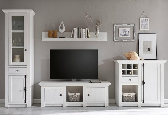 Home affaire Wohnwand »California«, (Set, 4-tlg), bestehend aus Standregal, Lowboard, Wandregal, Highboard