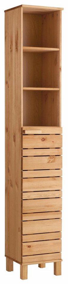 Welltime hochschrank jossy aus massivholz otto - Badezimmer schmal ...