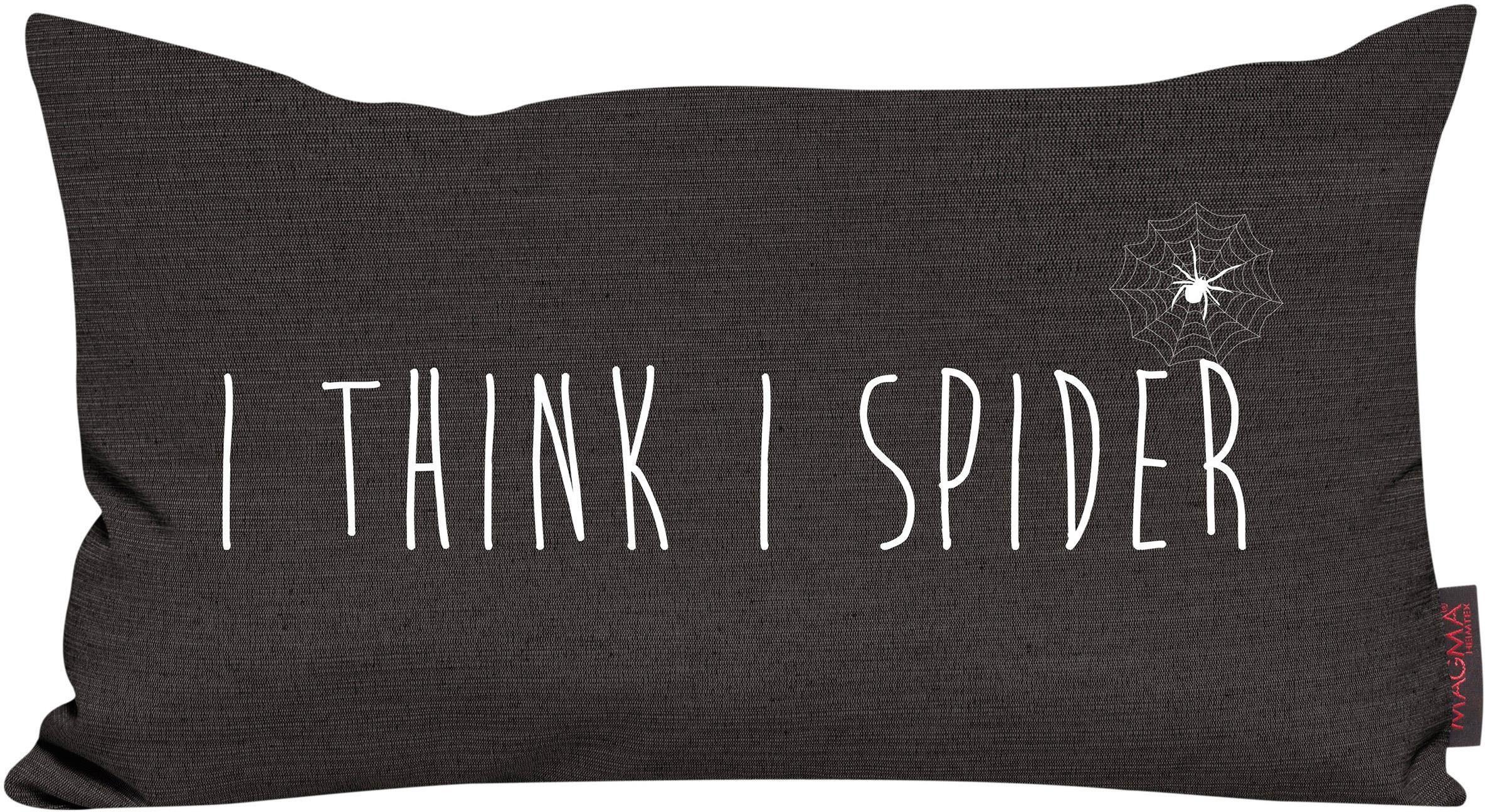Dekokissen, Magma, »I think I spider«, mit Spruch