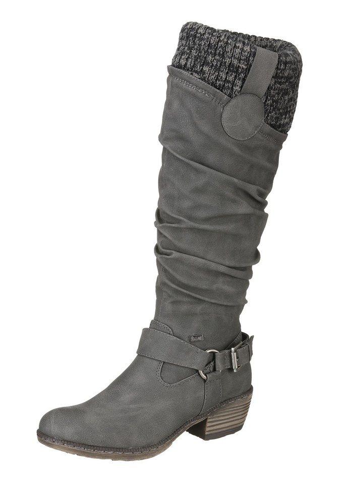 Rieker Stiefel mit Tex-Ausstattung in dunkelgrau