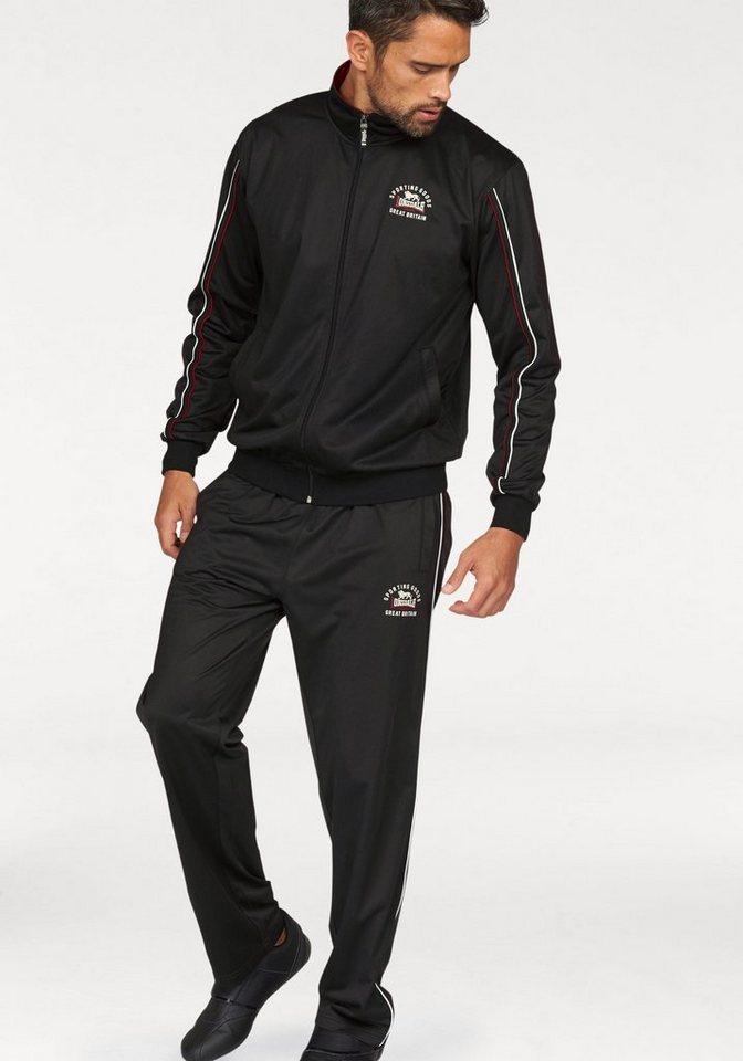 Lonsdale Trainingsanzug »Tricot Fleece« in schwarz