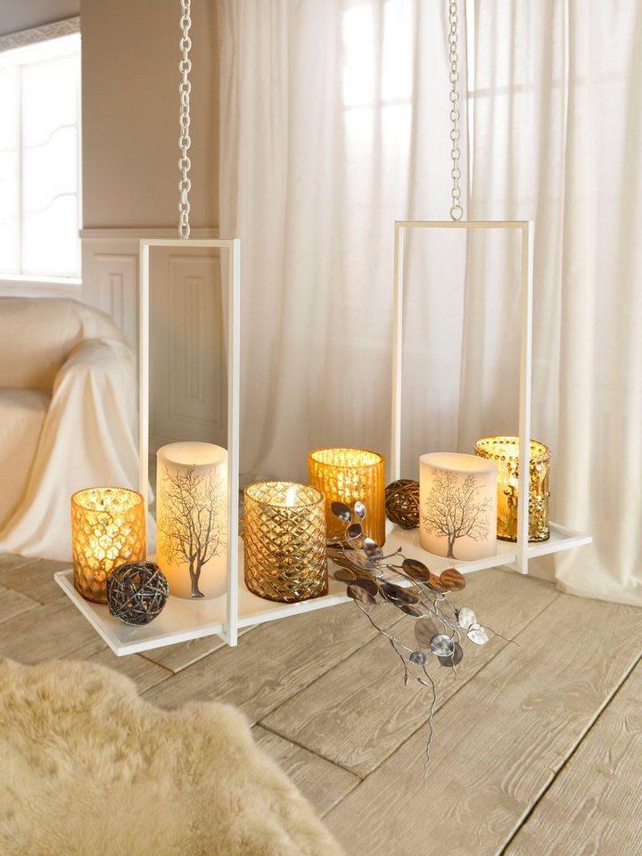LED-Kerzen, 2er-Set in goldfarben