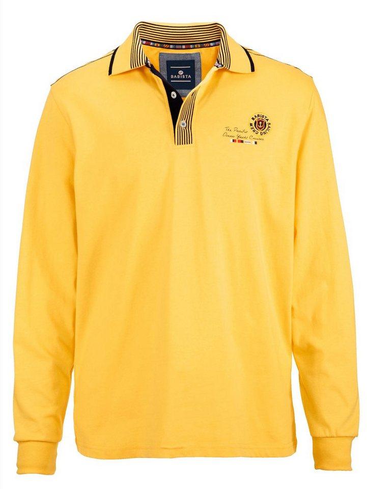 Babista Poloshirt mit aufwändigen Details in gelb
