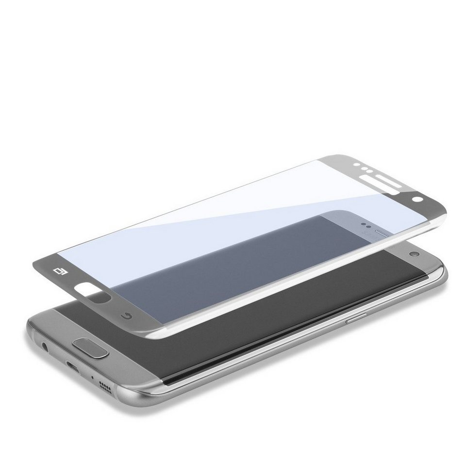 4Smarts Folie »Second Glass Curved für Samsung Galaxy S7 Edge« in Silber