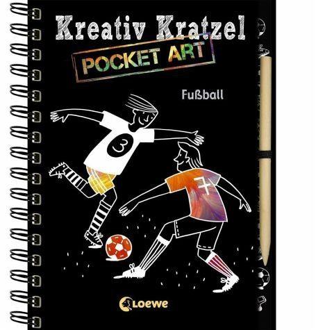 Gebundenes Buch »Kreativ-Kratzel Pocket Art: Fußball«